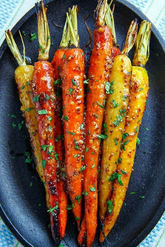 Here's a wonderful recipe for Maple Dijon Roasted Carrots